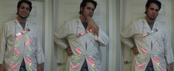 My LED Labcoat. The accessory every Evil Engineer must have!