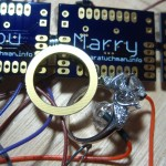 PCB ring, real ring, and the circuit board she designed