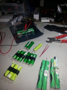 I had to build 12 battery packs!