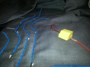 EL wire and LEDs