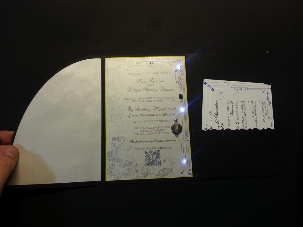 tc  electronics engineers wedding invitation card